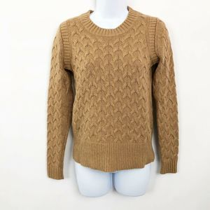 J.Crew Honeycomb Cable Sweater Acorn Brown